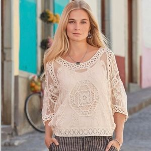 Sundance Geovanna Cream Lace Top